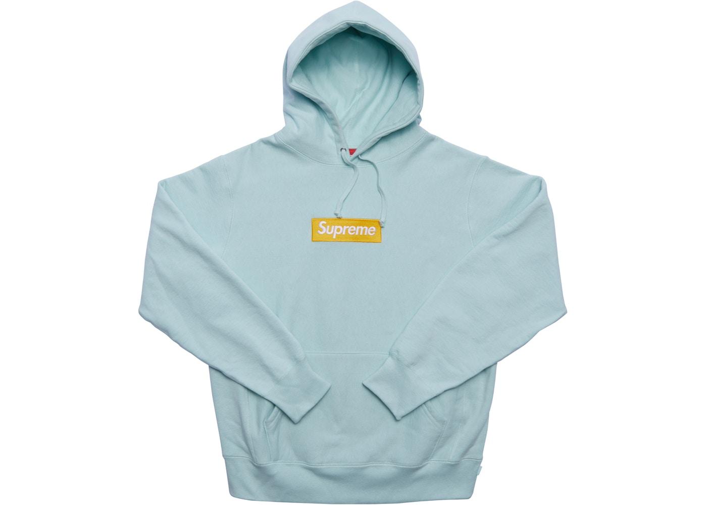 Supreme Box Logo Hooded Sweatshirt (FW17) Ice Blue.