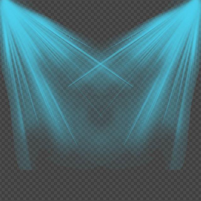 Creative Blue Light Splatter, Light, Spotlight, Lights PNG.