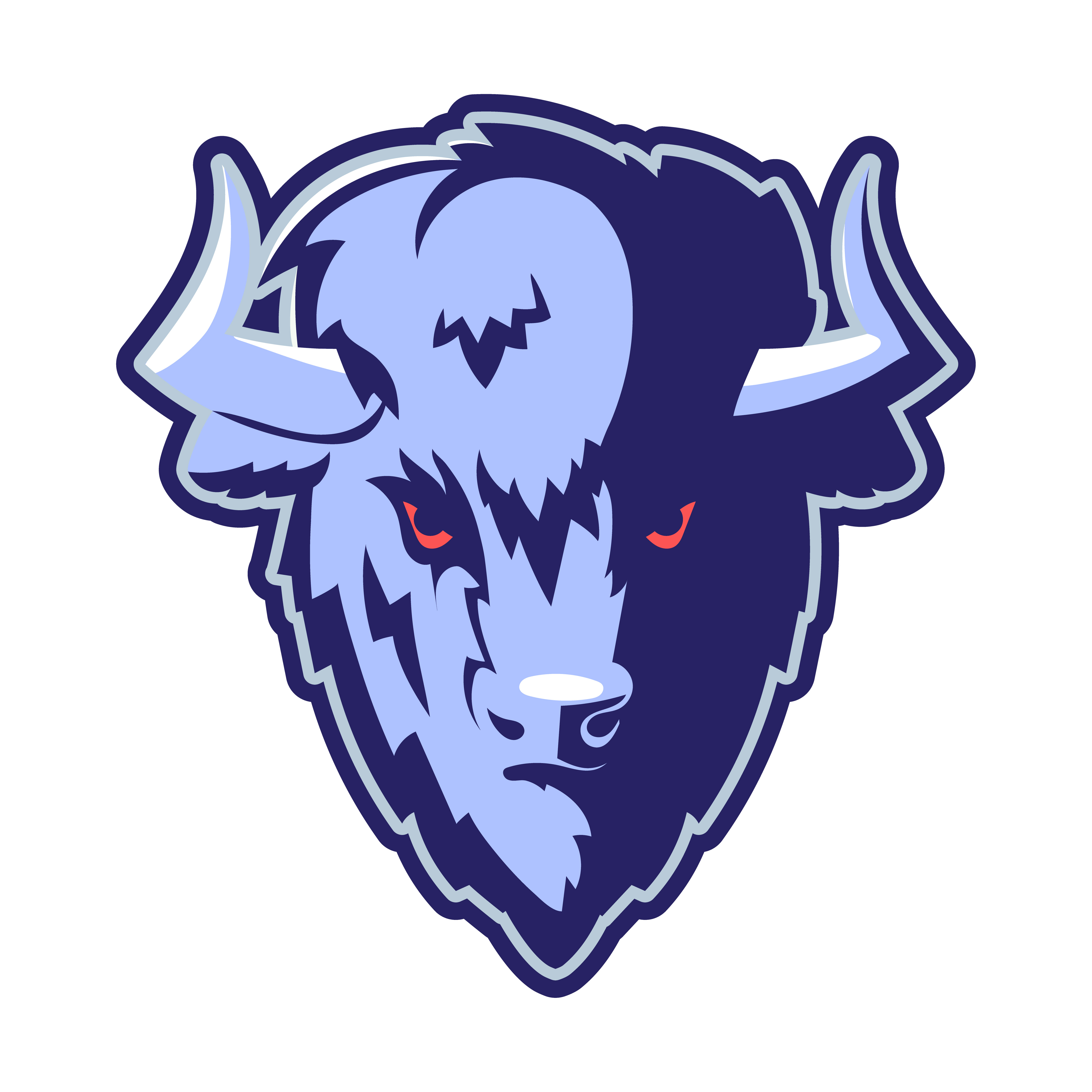 Buffalo Head Logo Mascot.