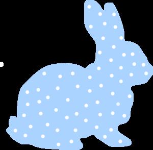 Blue Bunny Clipart.