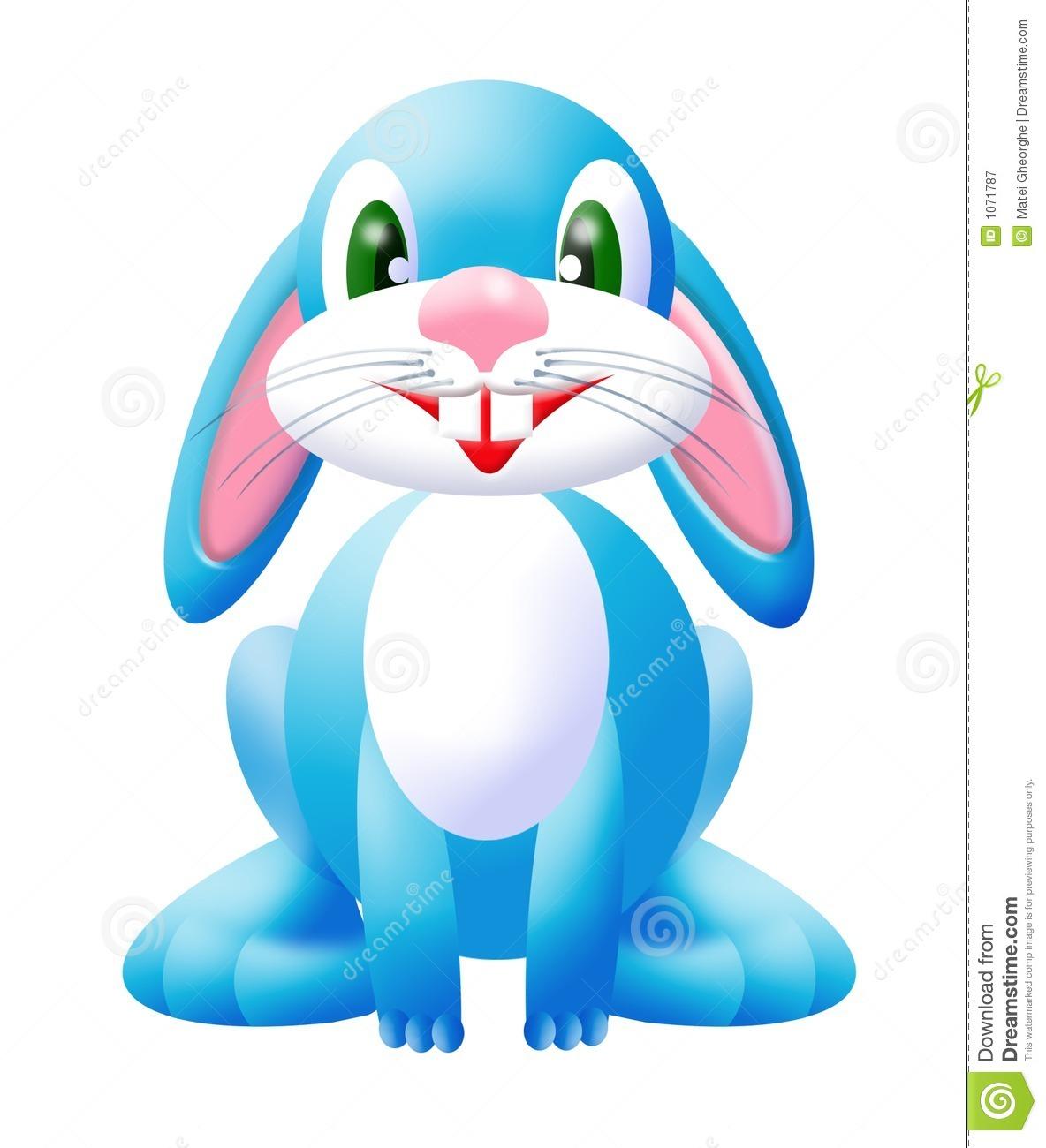 Blue Bunny 2 Royalty Free Stock Photography.
