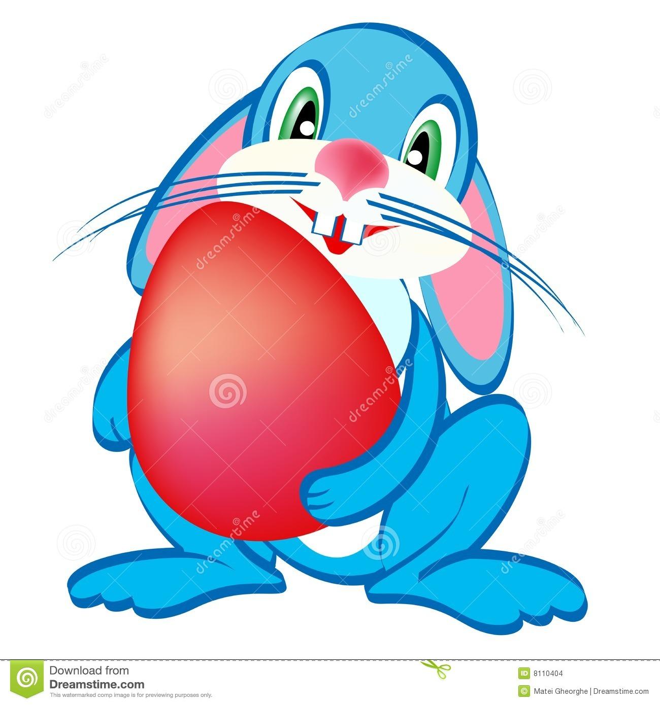 Clipart Blue Easter Bunnies.