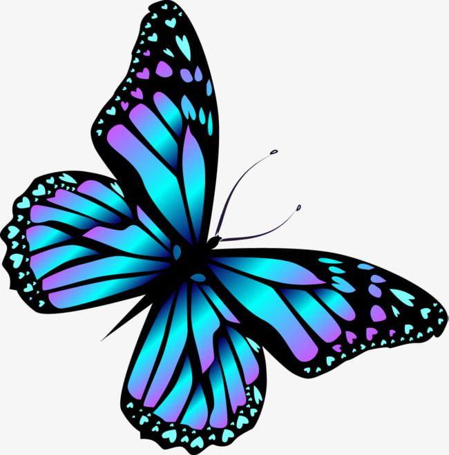 Cartoon Blue Butterfly PNG, Clipart, Blue, Blue Clipart.