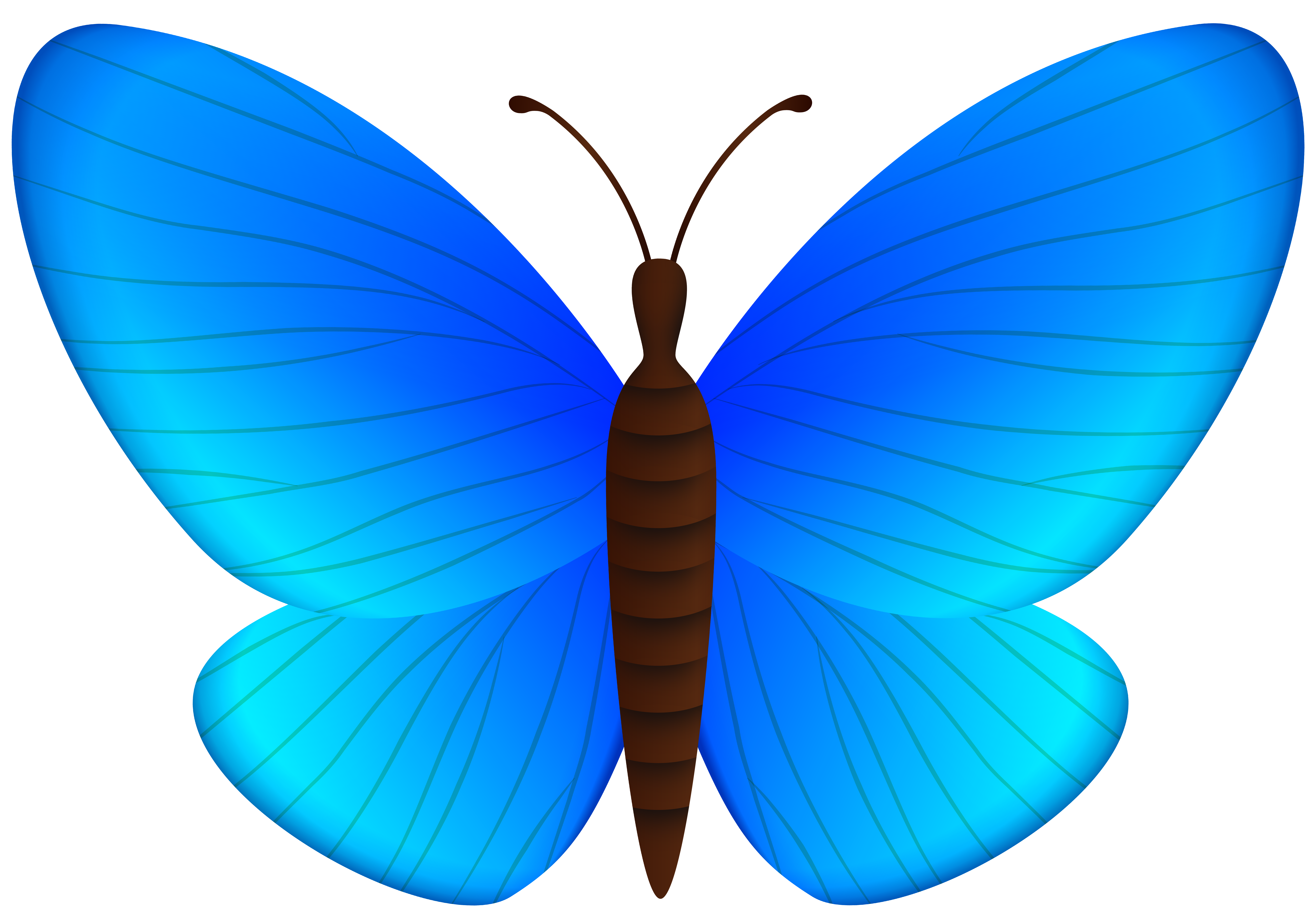 Blue Butterfly PNG Clipart.