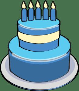 Blue cake clipart » Clipart Portal.