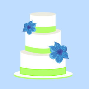 Cake Blue And Green clip art.