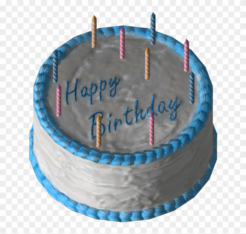 Blue And White Birthday Cake Clipart.