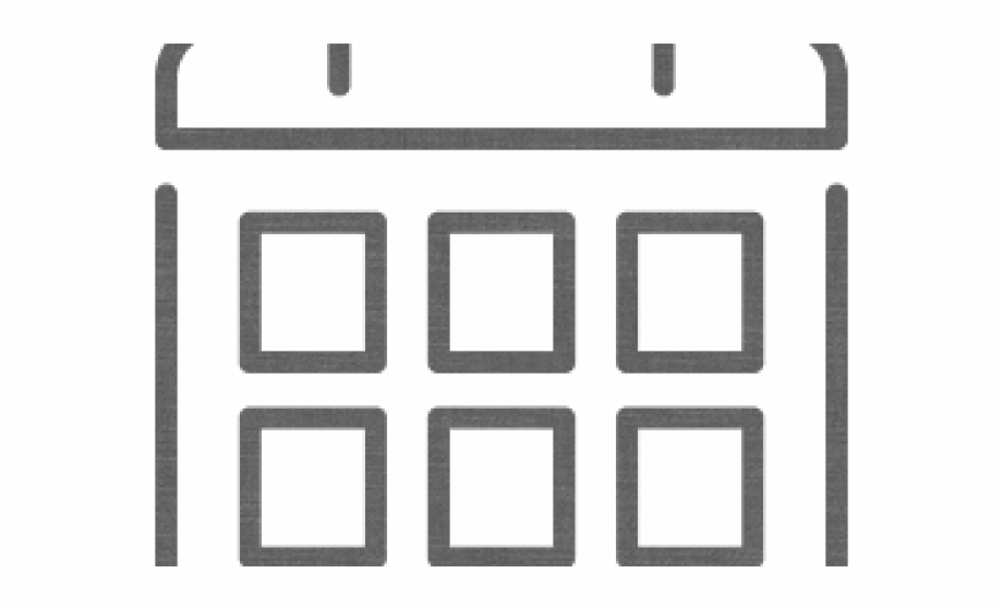 Calendar Icons Transparent White.