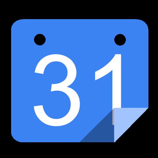Utilities calendar blue Icon.