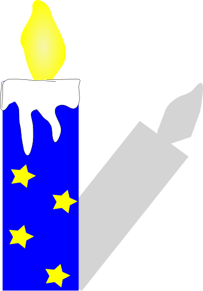 Blue Candle PNG, SVG Clip art for Web.
