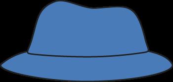 Blue hat clipart #5