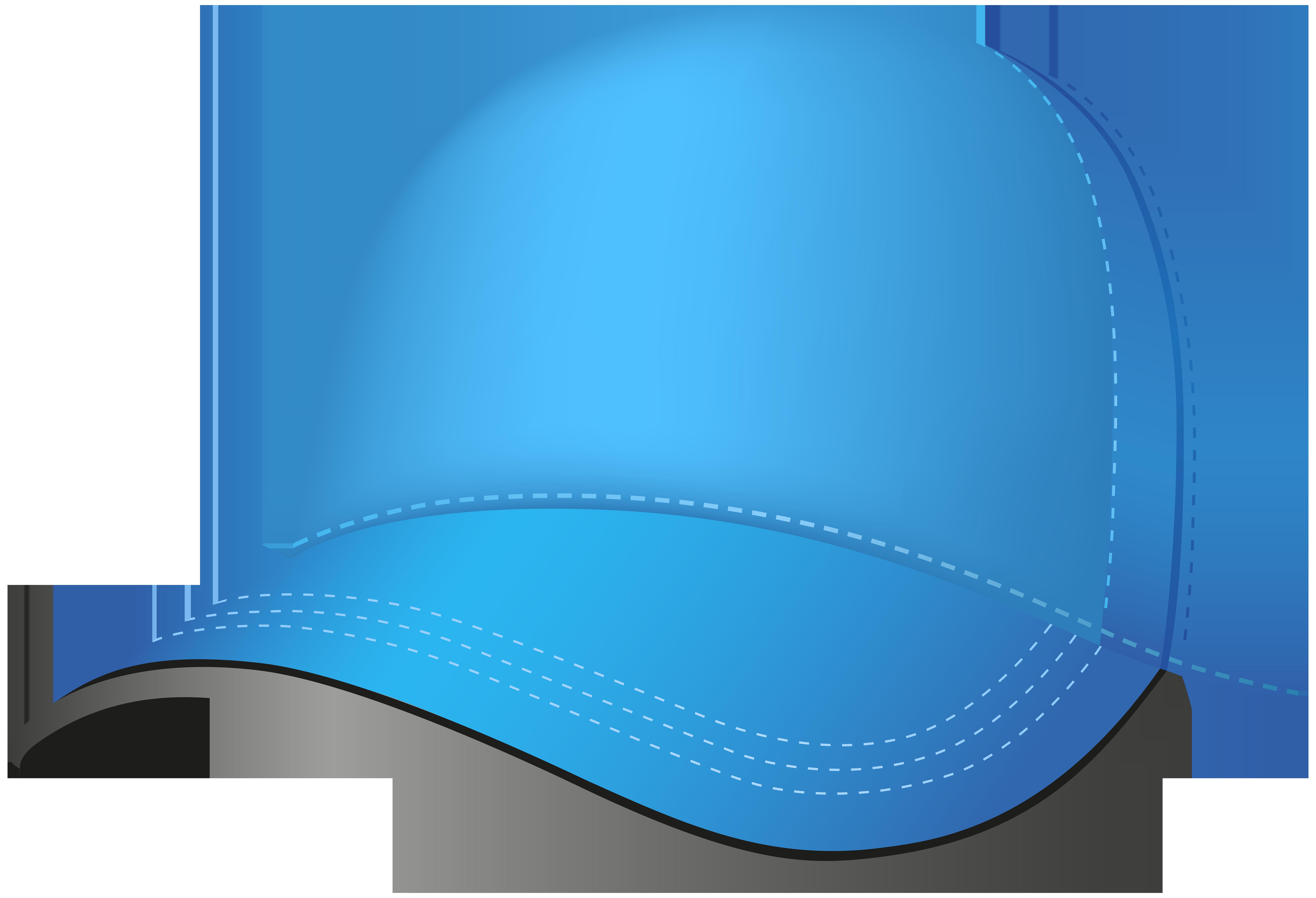 Blue Baseball Cap PNG Clip Art Image.