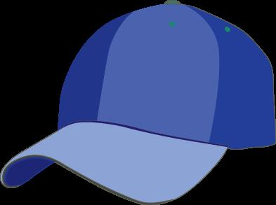 Blue cap clipart.