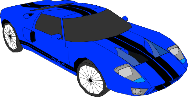 Blue Sports Car Clipart.