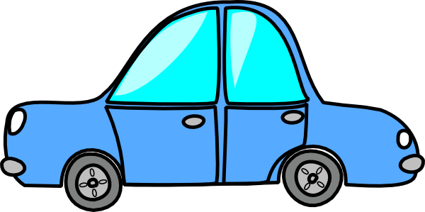 Clipart blue car.