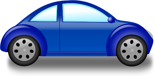 Clipart of blue car.