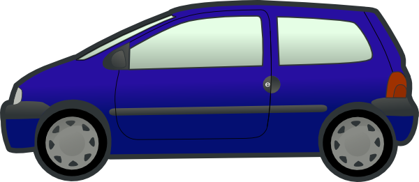 Clipart blue car.