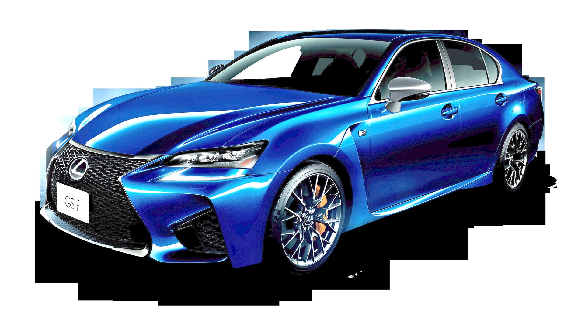 Lexus GS Blue Car PNG Image.