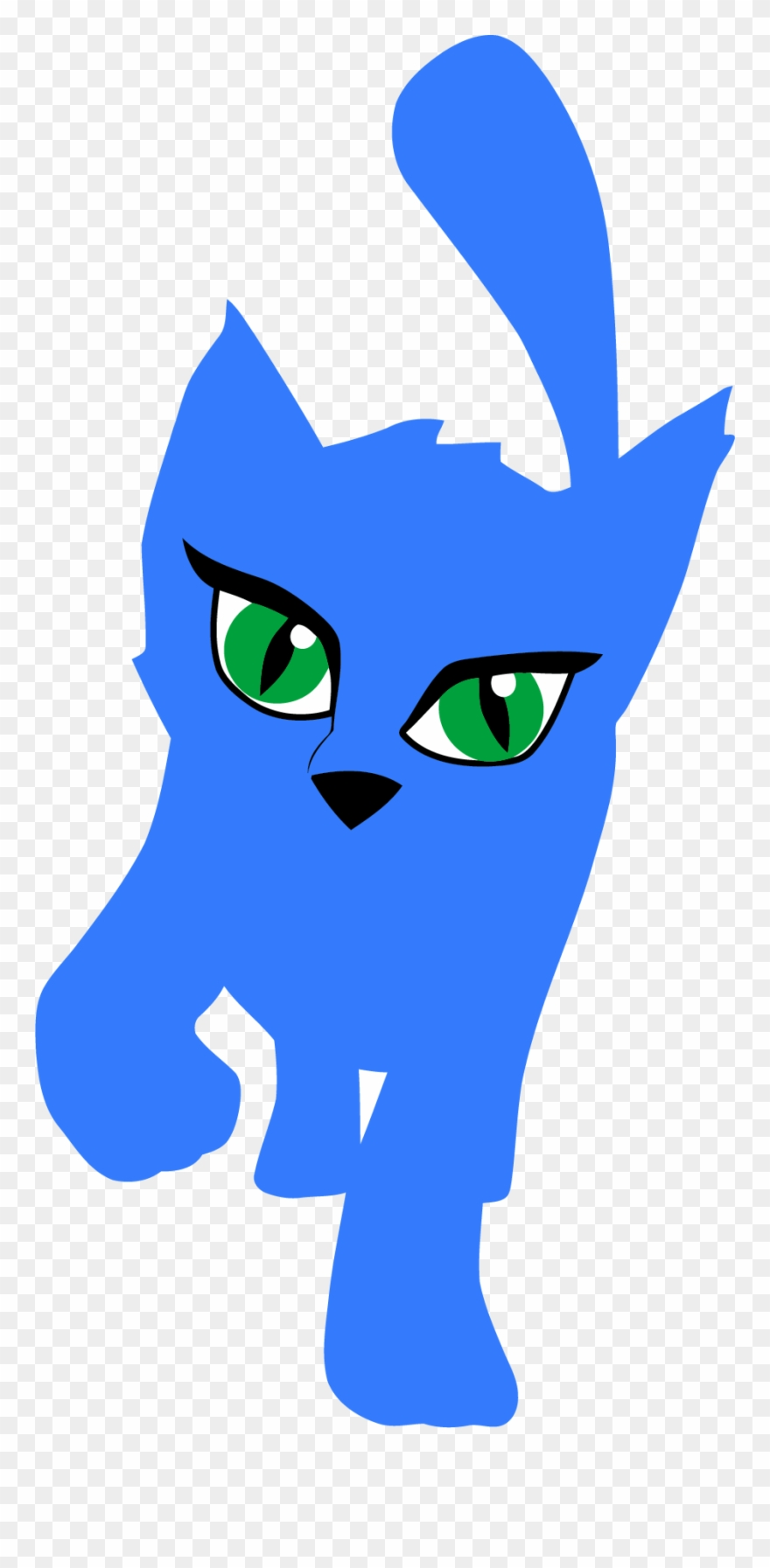 Blue Cat Clipart Png.