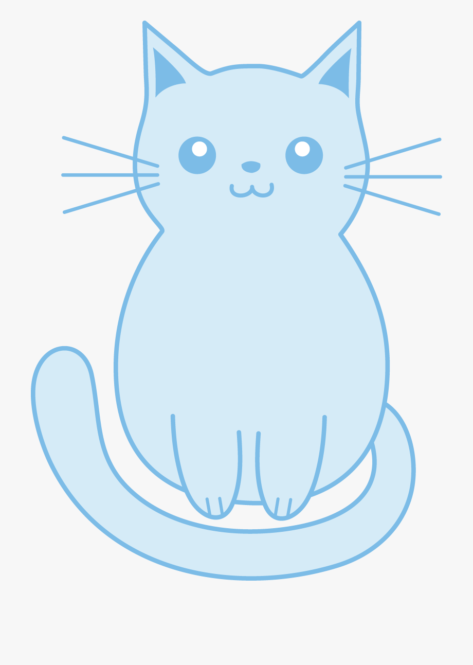 Kittens Clipart Blue Cat.