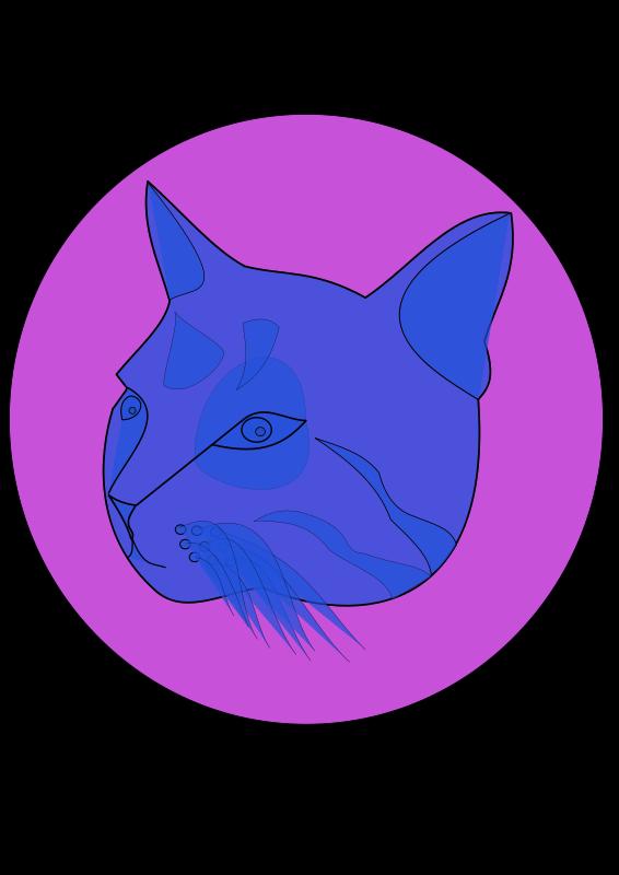 Free Clipart: Blue cat.