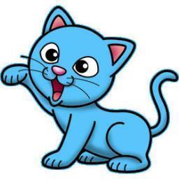 Blue cat clipart 3 » Clipart Portal.