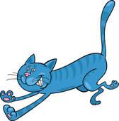2,605 blue cat clip art images.