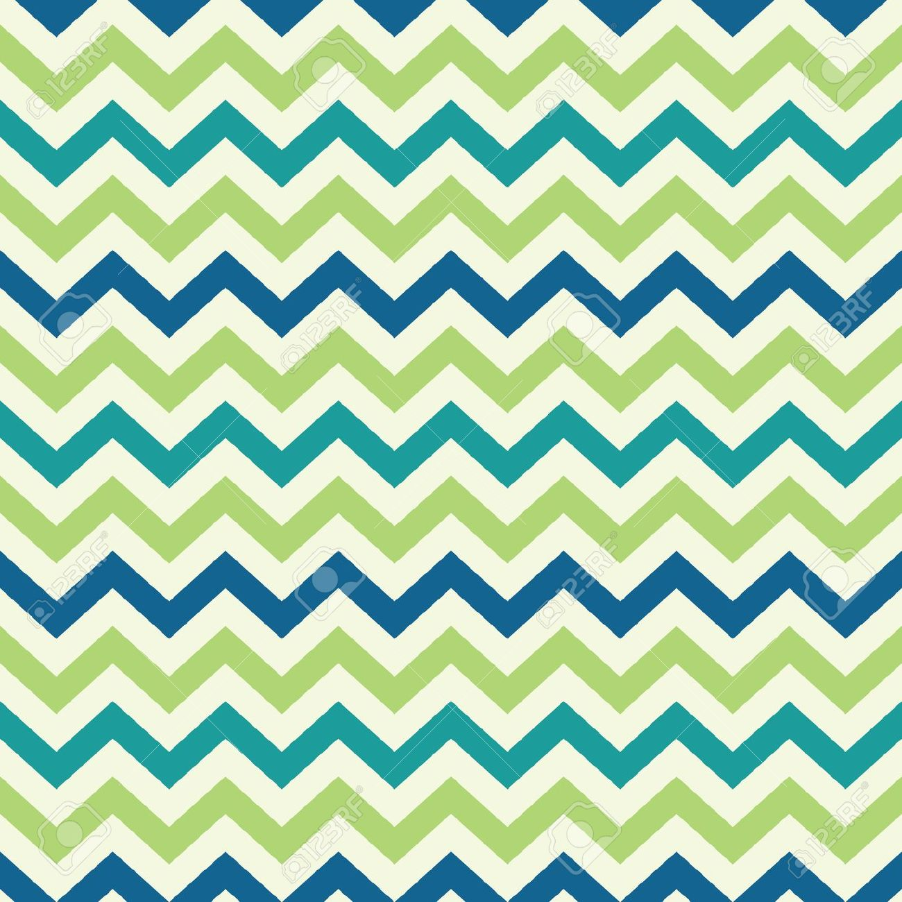 Blue White And Green Chevron Clipart.