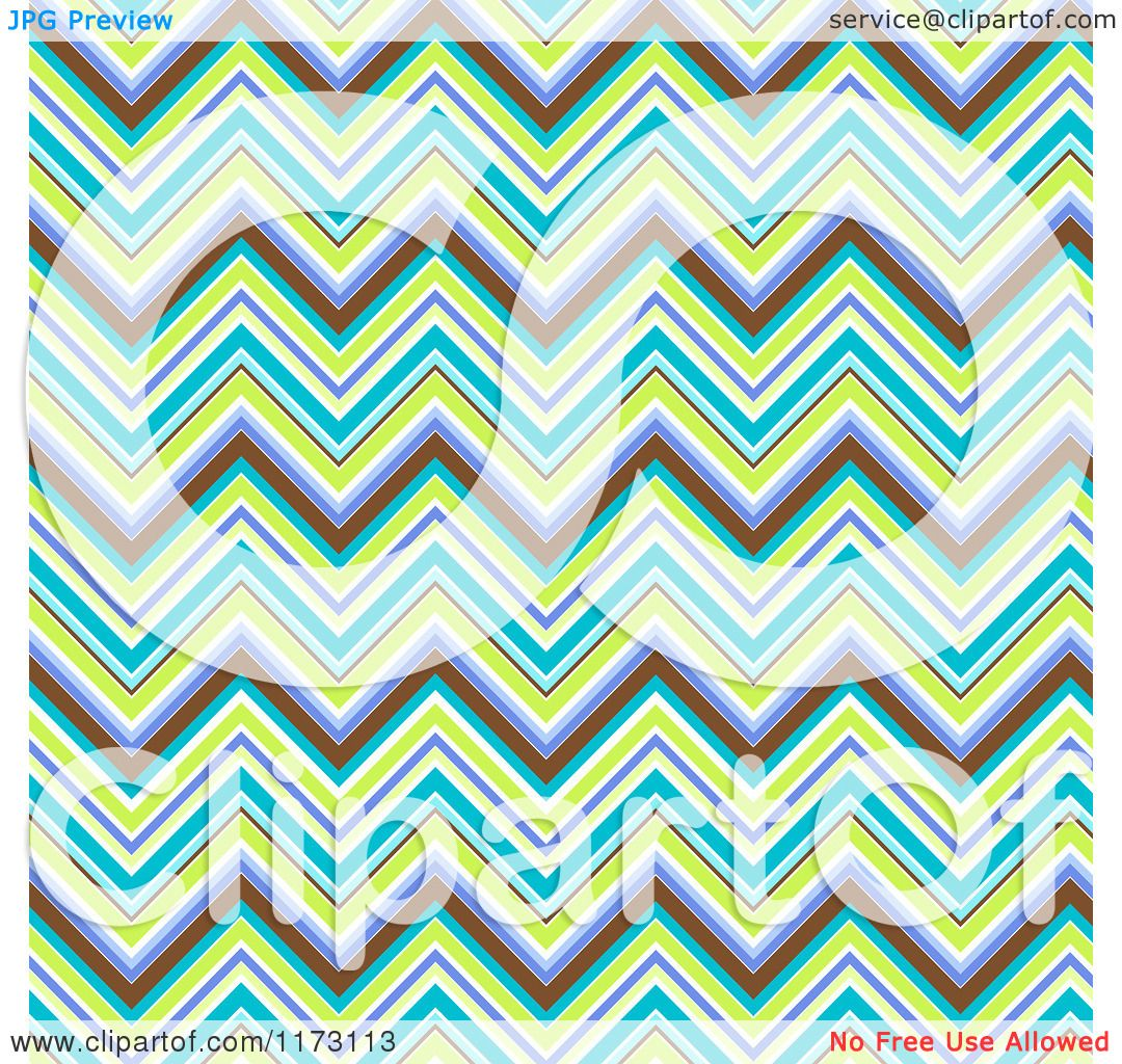 Clipart of a Purple Green and Blue Chevron Pattern Background.