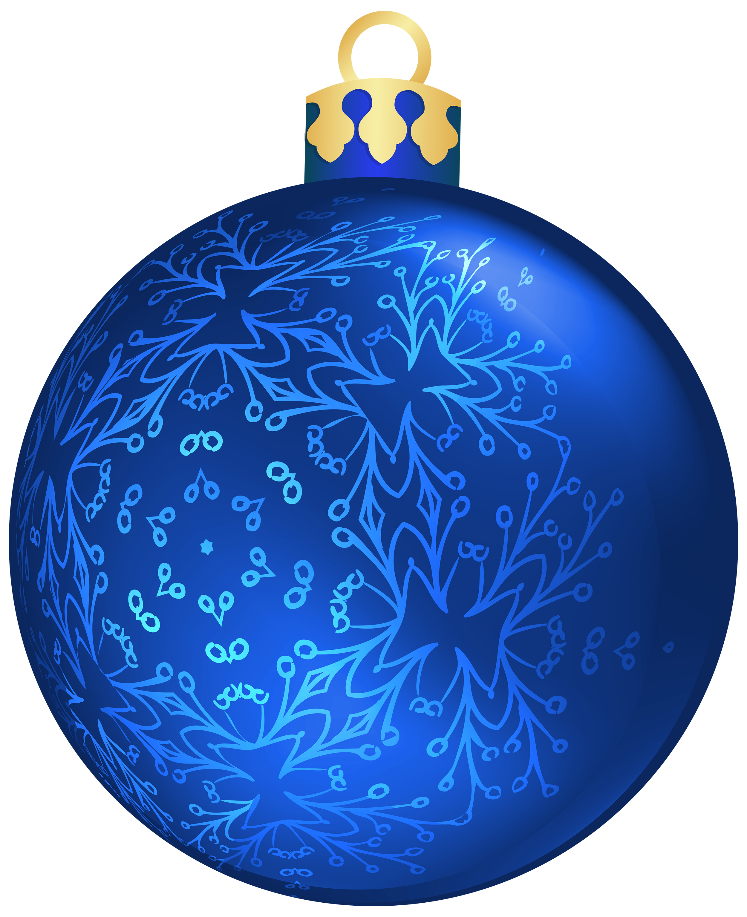 Blue Christmas Ball PNG Clipart.