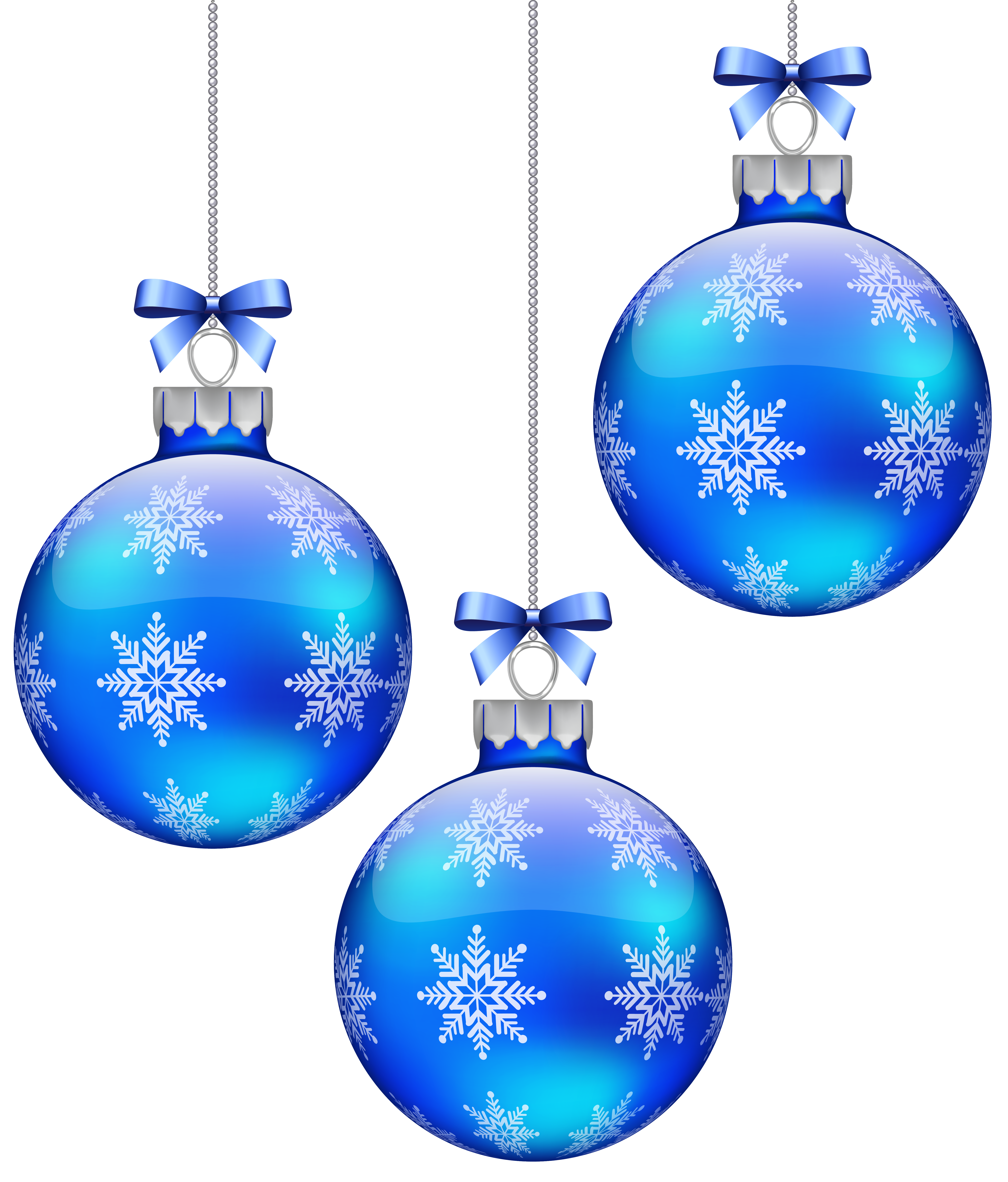 blue christmas decorations clipart - Clipground