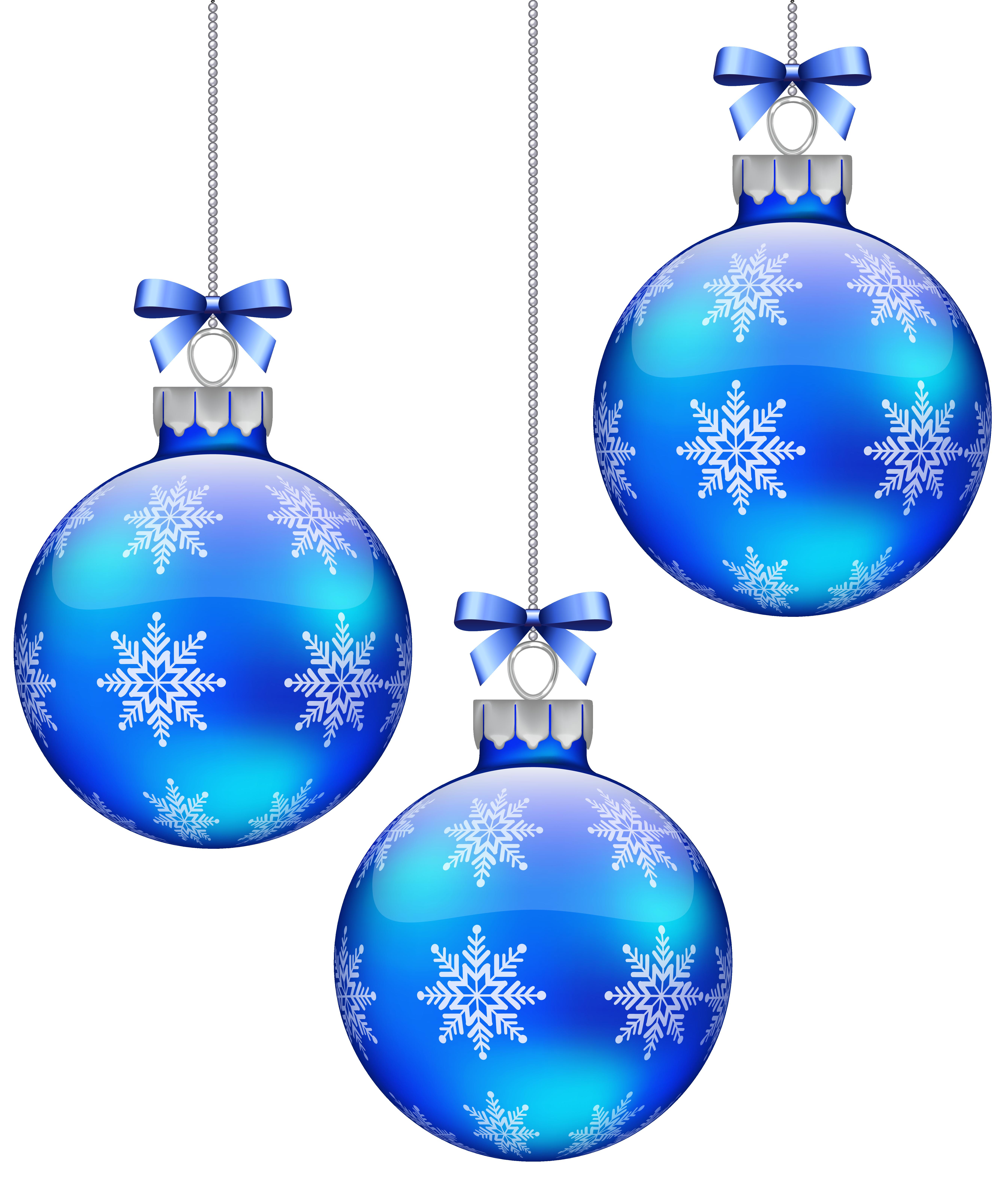Blue Christmas Clip Art.