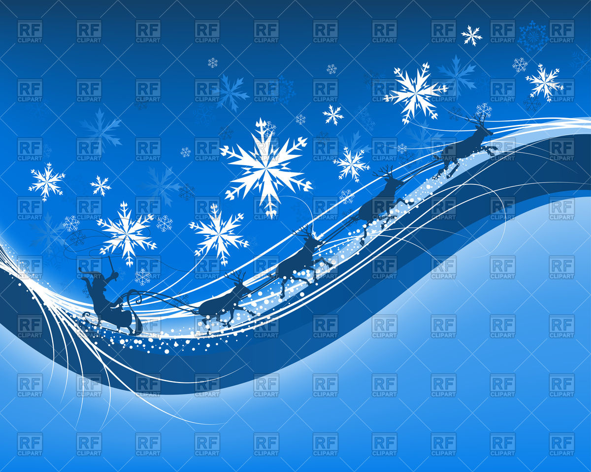 Blue Christmas Background Clipart Free.