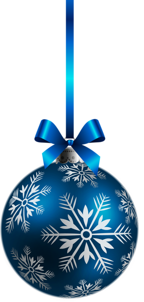 Large Transparent Blue Christmas Ball Ornament PNG Clipart.