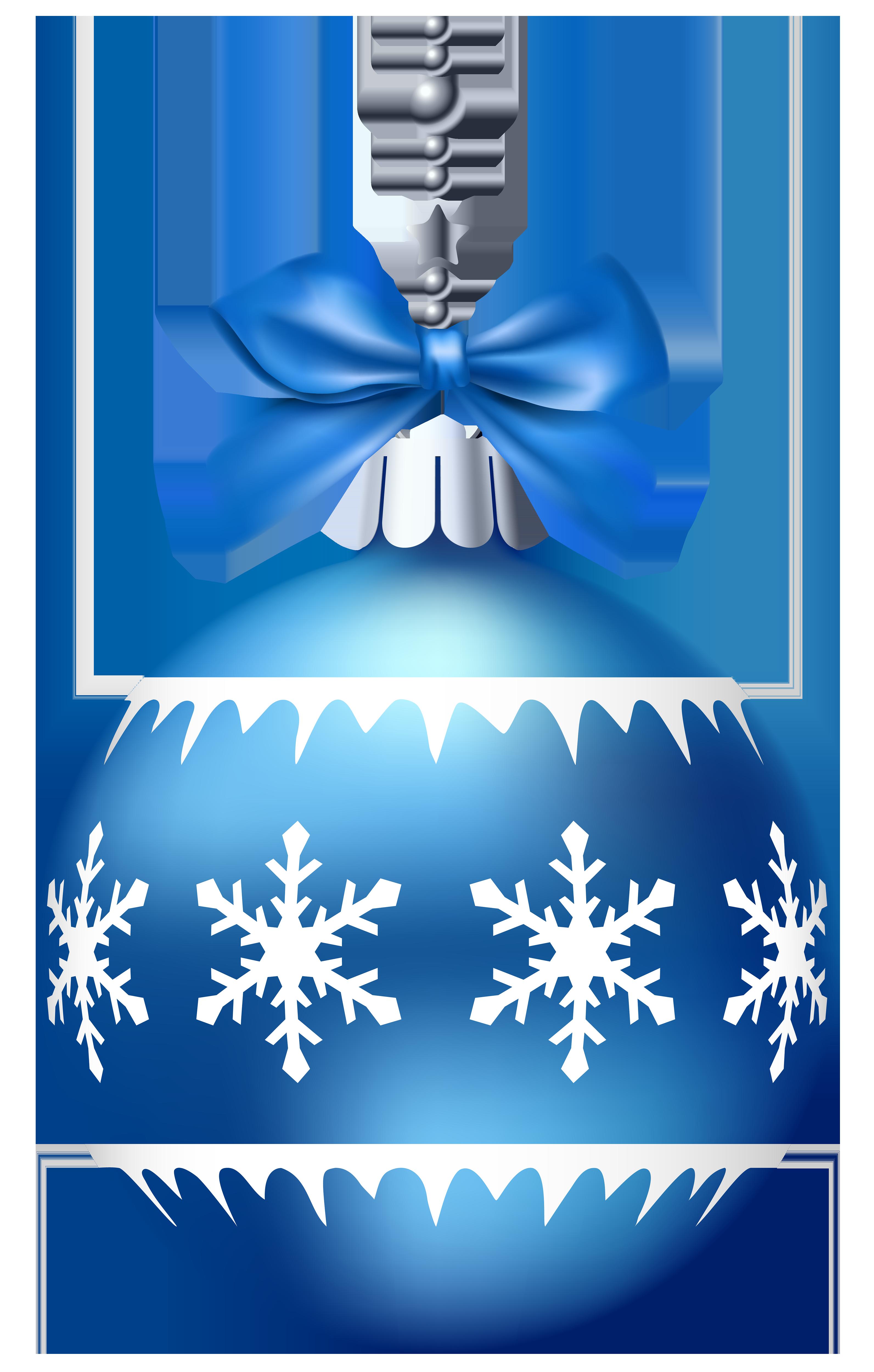 Blue Christmas Ball PNG Clip Art.