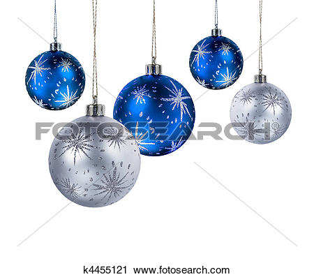 Clipart of Blue silver christmas balls k4455121.