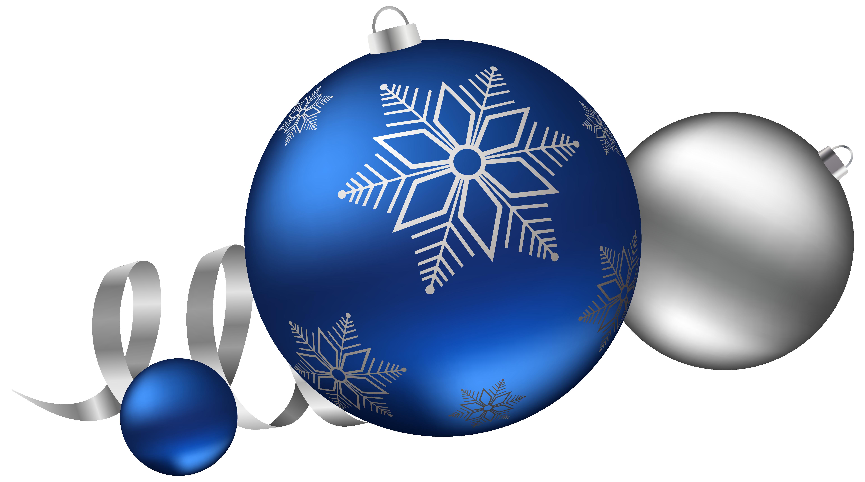 Christmas Decorations Clipart Blue.