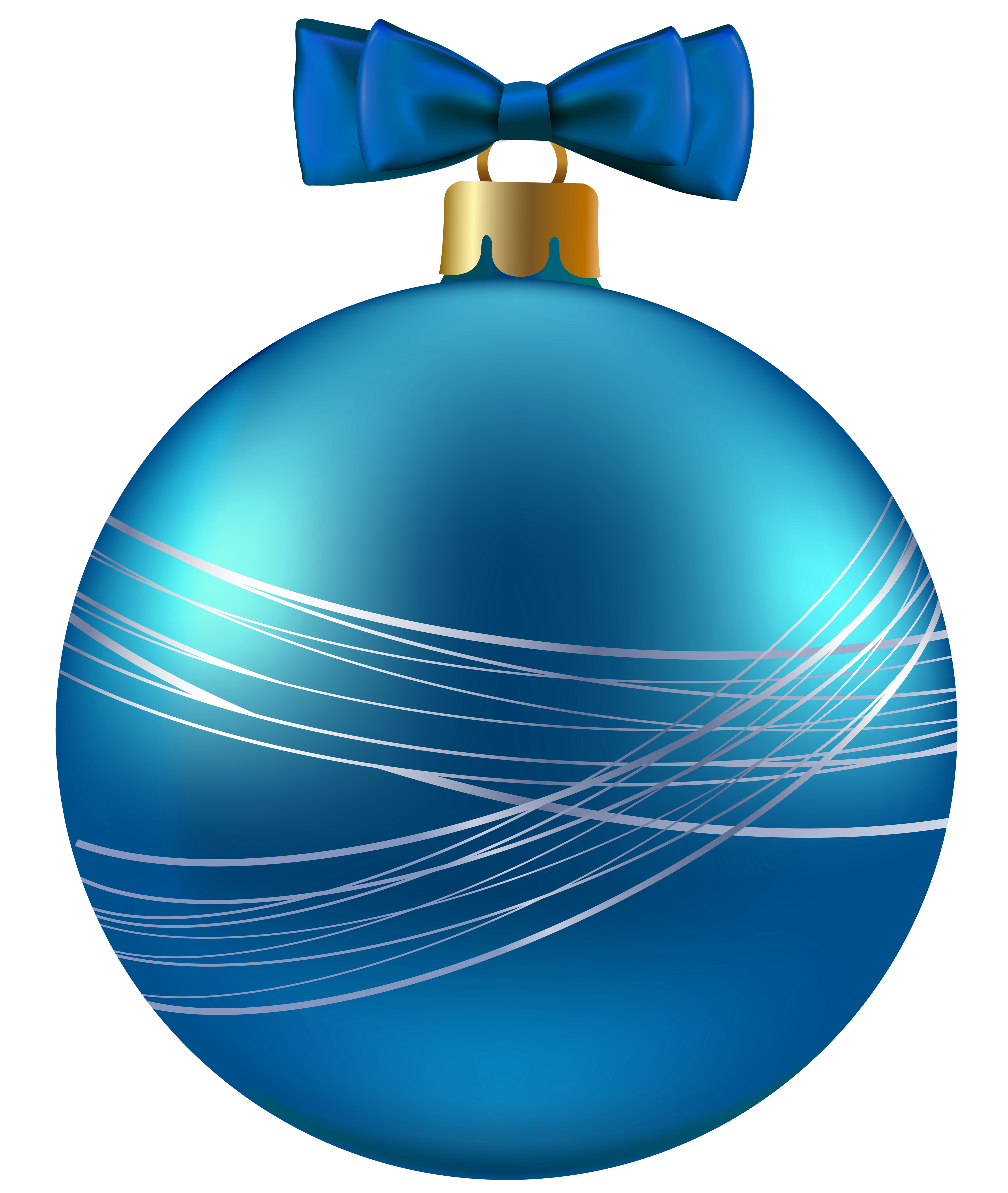 Blue Christmas Ornament PNG Clipart Image.