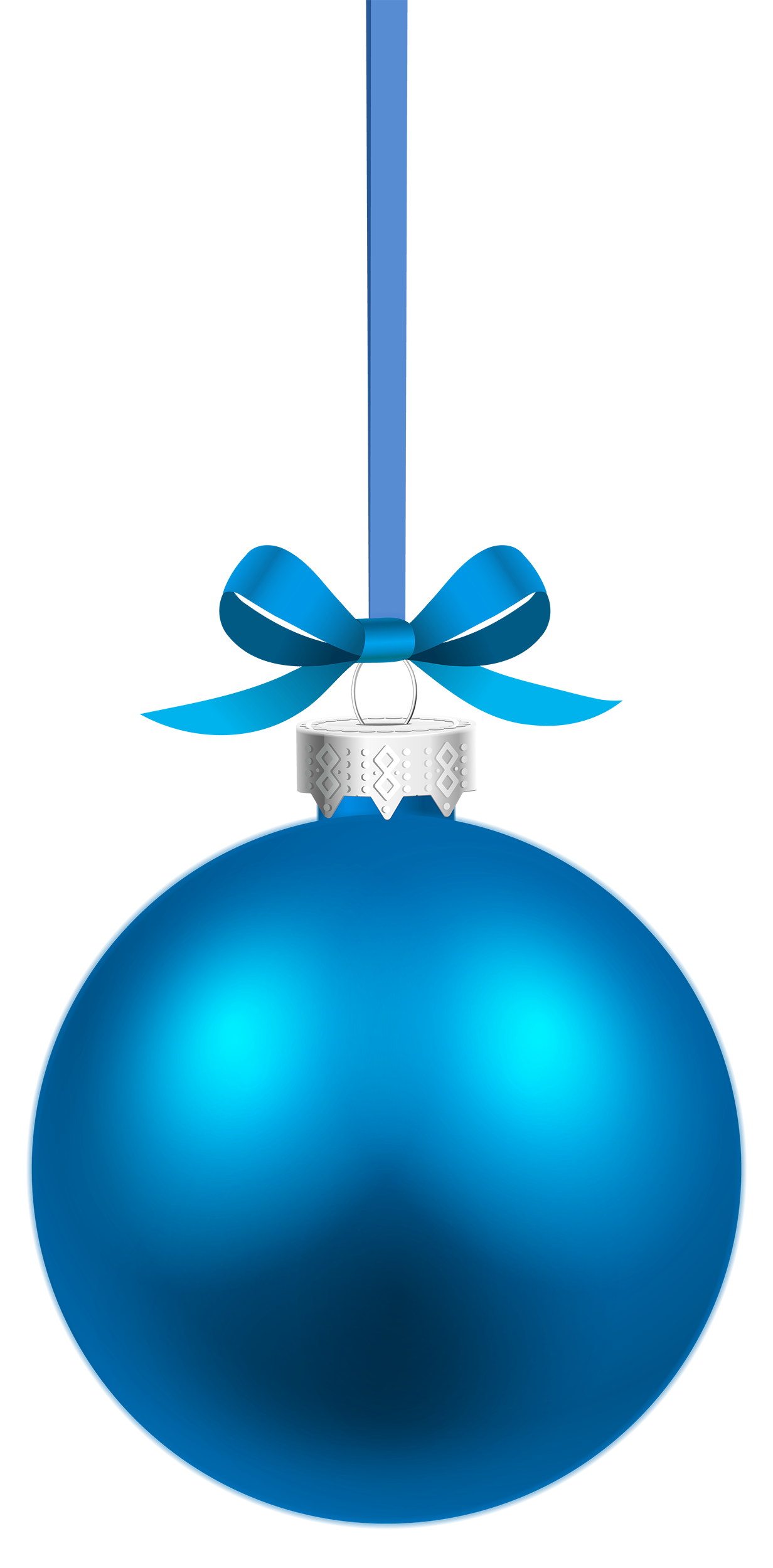 Blue Hanging Christmas Ball PNG Clipart.