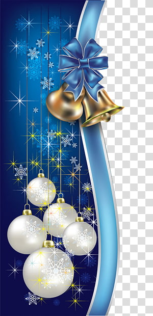 Blue Christmas transparent background PNG cliparts free download.