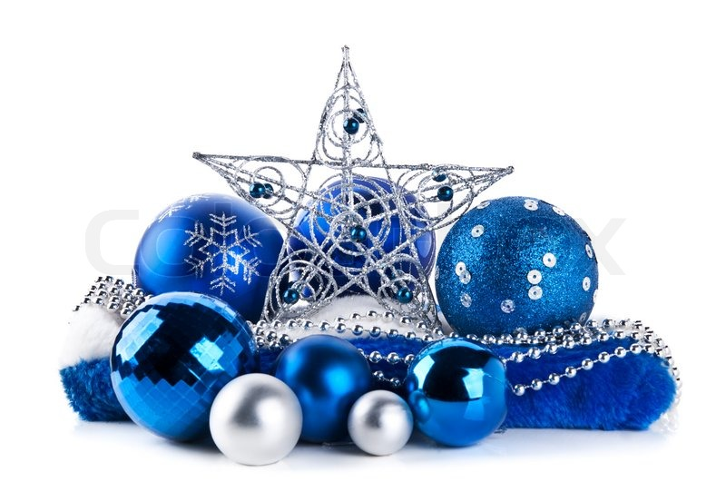 Composition of the blue christmas balls.