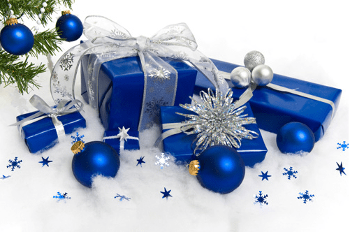 Blue Christmas Decorations Png Vector, Clipart, PSD.