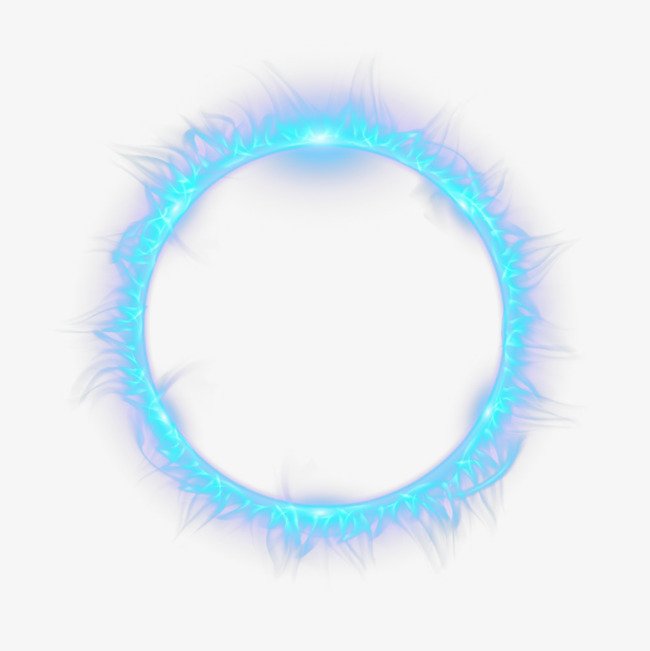 Blue Circle Flame, Circle Clipart, Flame Clipart, Beautiful Circle.