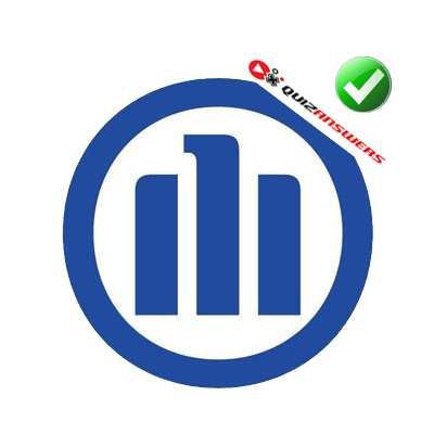 Blue Circle with 3 Blue Lines Logo.