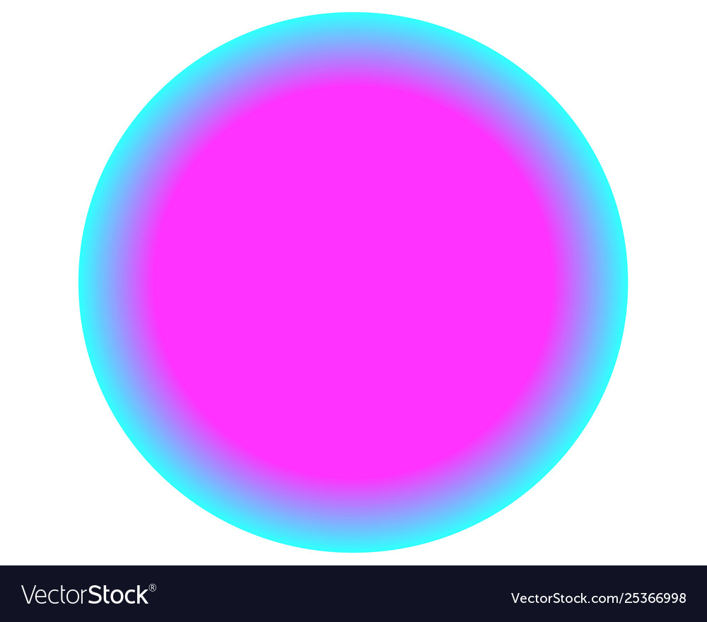 Neon pink blue circle ball on white background.