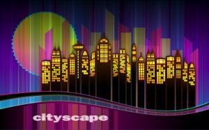 Blue City Scene Clip Art Download.