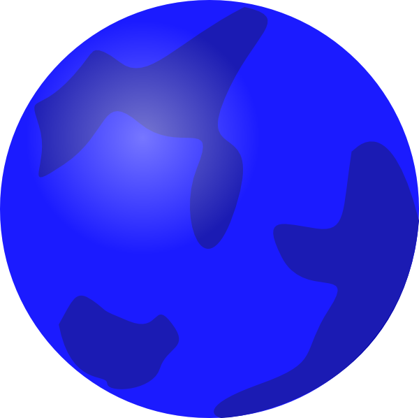 Globe Blue clip art Free Vector / 4Vector.