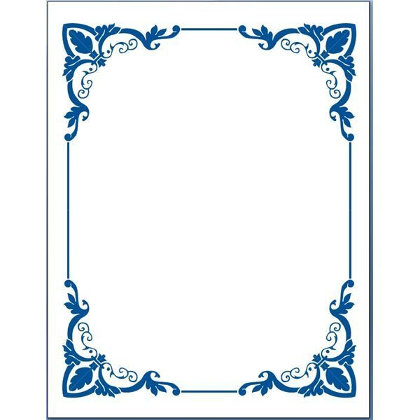 Blue Flower Borders For Word Document 5 Page Border Clipart.