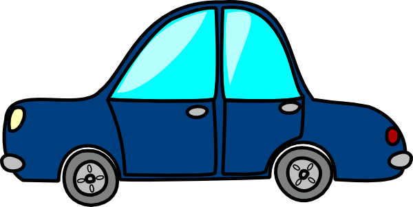 Blue Vintage Car Clipart Transparent Background.