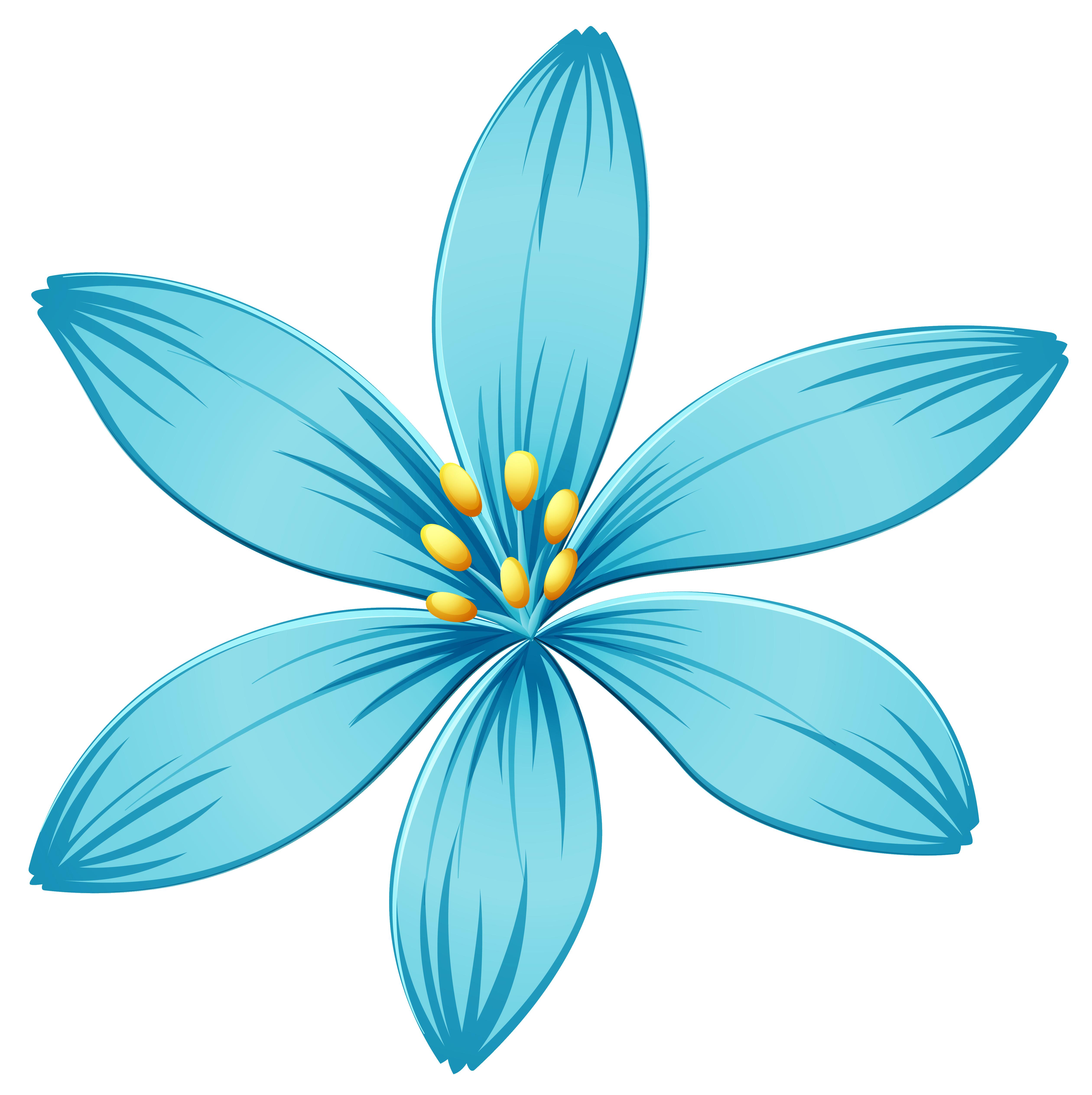 Blue Flower PNG Image.